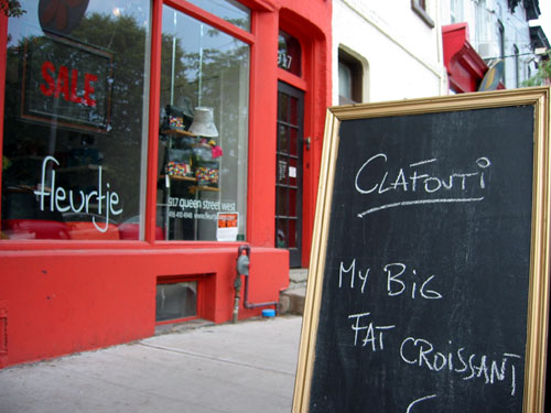 A croissant shop way West on Queen Street.