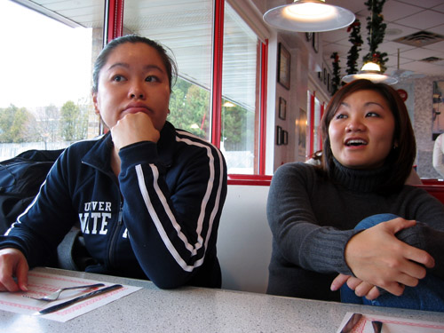 Cathy and Lien at Mel's.