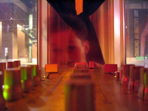 Matt behind a mixer.
