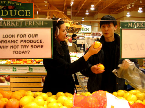 Steph and Ju-lian at Zehrs.