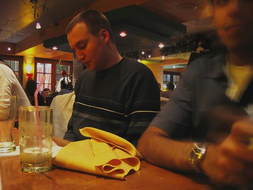 Dave sitting in Zaffron.