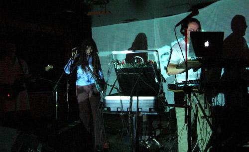 Bleep performing at B-Side.