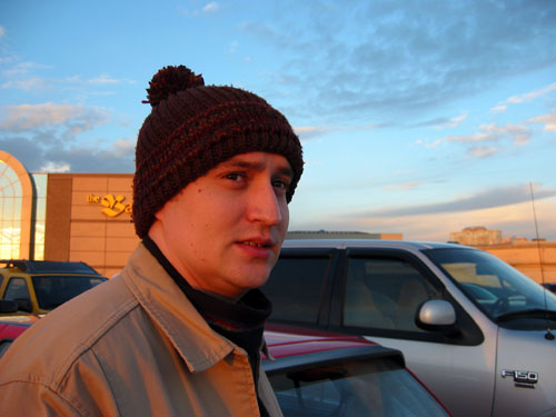 Dave standing in front of the Scarborough Town Centre.