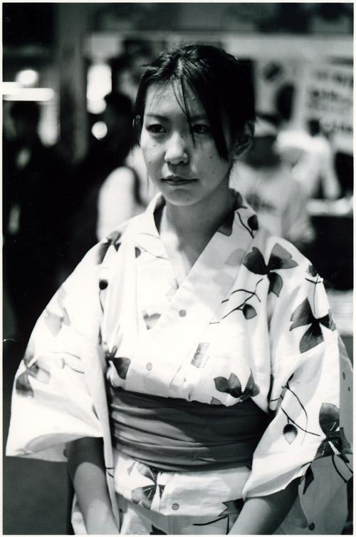 Haruka at the Lunar Festival.