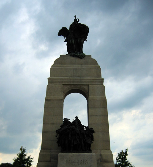 The First World War monument in Ottawa.