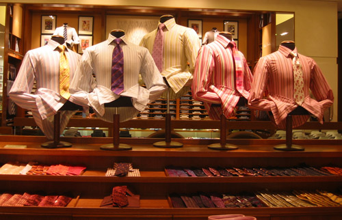 Shirts and ties on sale in Holt Renfrew.