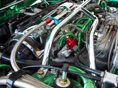 An engine I saw at the Darknights 2004 car show.