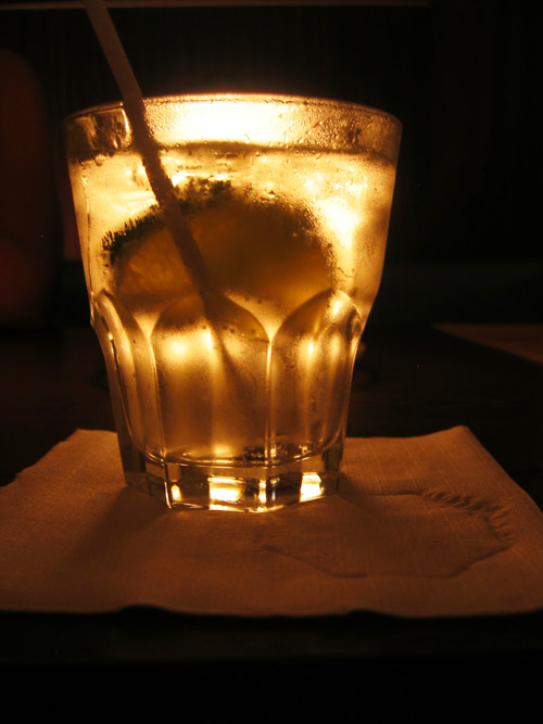 A Gin and Tonic on a table in Butt'r.