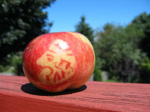 An apple Shima's dad made me.