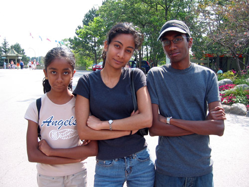 Ghrace, Ruth, and Me outside the Metro Toronto Zoo.