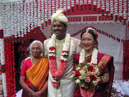 My grandmother, Arjuna and Min, after their wedding.