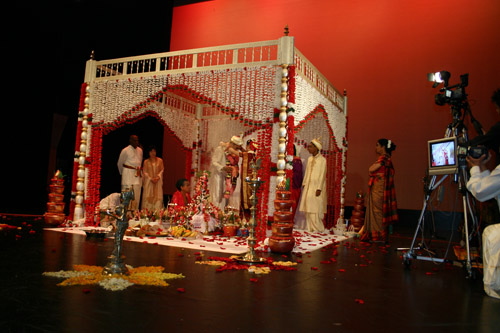 The stage on which my cousin got married.
