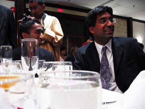 My cousin Mahi at my cousin Arjuna's wedding reception.