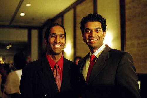 Jana and Giri at Arjuna's wedding reception.