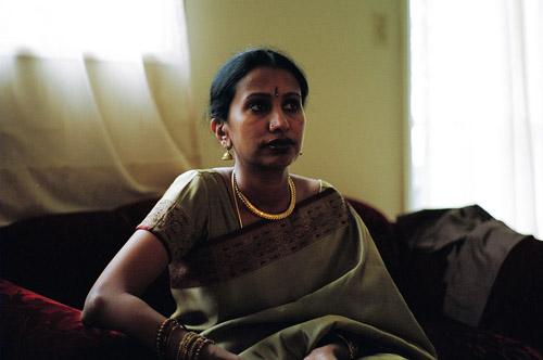 My mom in a sari.