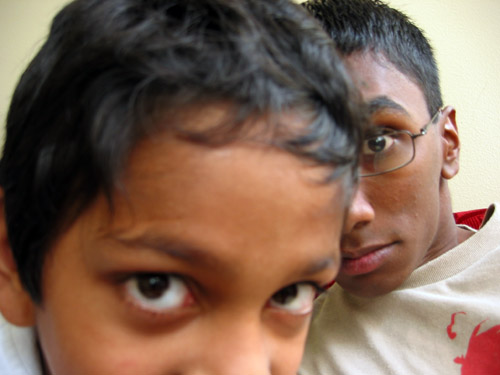 Me and Hashan in his living room.