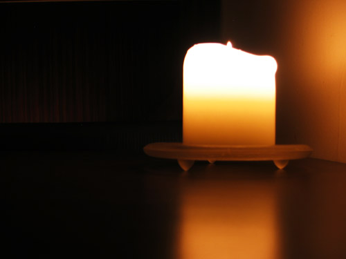 A candle in the Toronto lounge Butt'r.