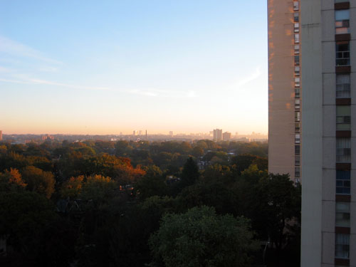 The view from my apartment in the morning.