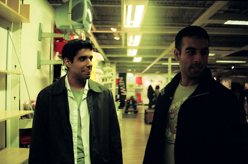 Mezan and Rishi in an Ikea.