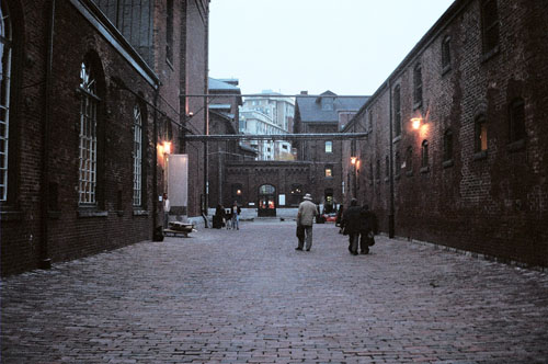 Some buildings in Toronto's Distillery District.