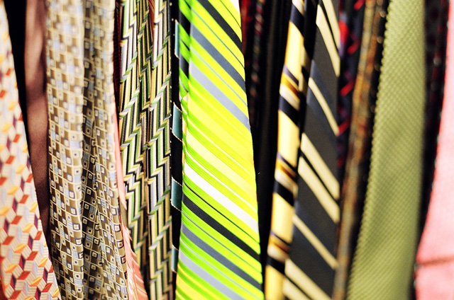 A rack of ties at the Winners near my house.