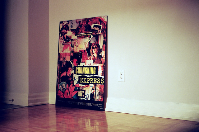 My Chungking Express poster leaning against my apartment wall.
