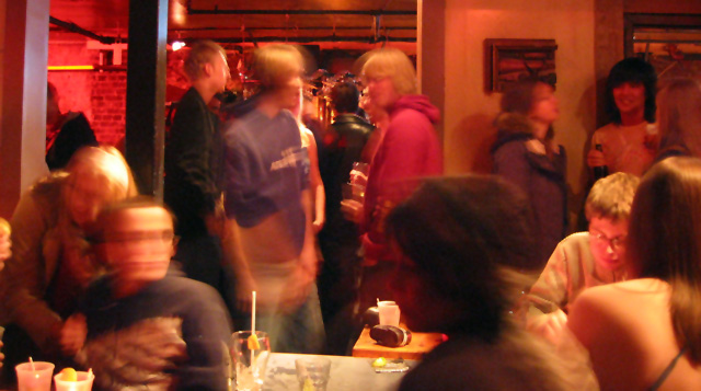 A busy night at Labyrinth Lounge.