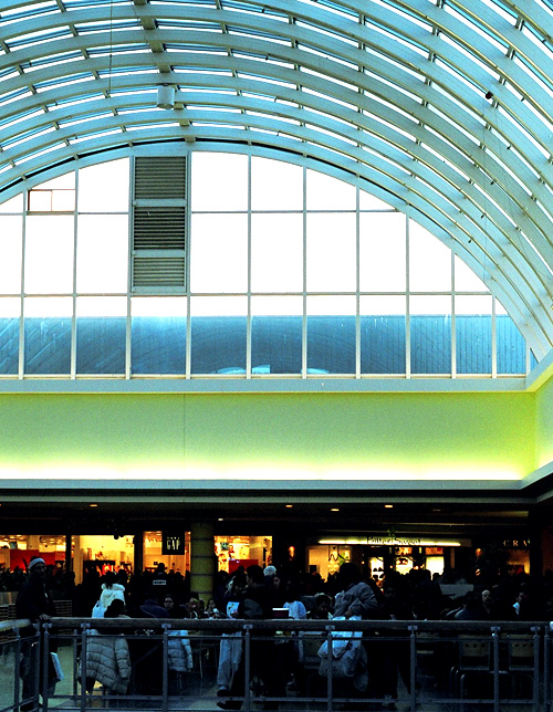 Looking out from the food court in the Scarborough Town Center.