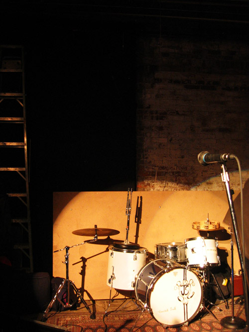 The drum set at Cinecycle.