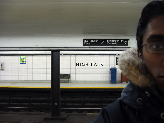 A picture of me in High Park station.