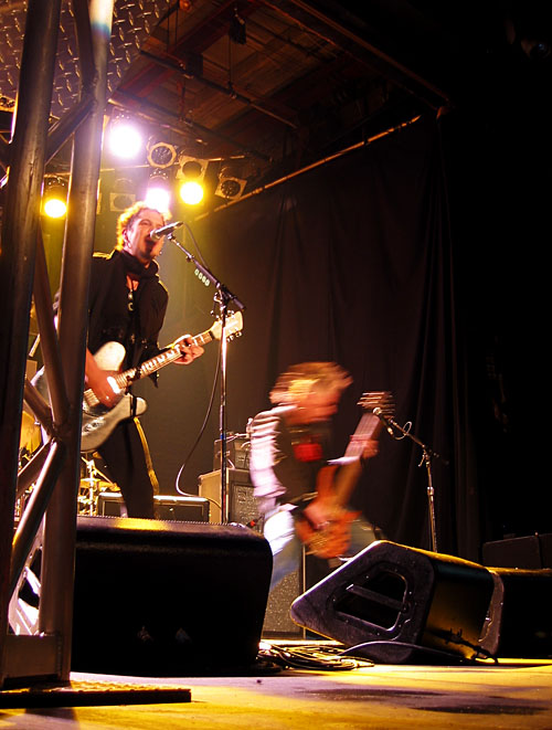 A band playing during the Toronto Indie Music Awards.