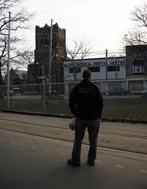 A man at Bathurst Station.