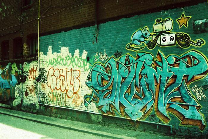 Graffiti on Queen St. West.