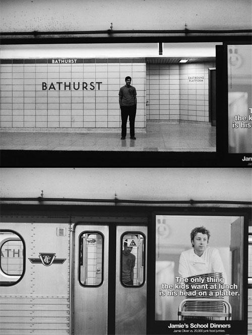 Rishi getting on the train at Bathurst Station.