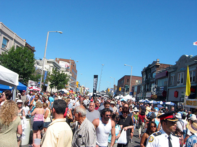 A small sample of the crowd at the Taste of the Danforth festival.