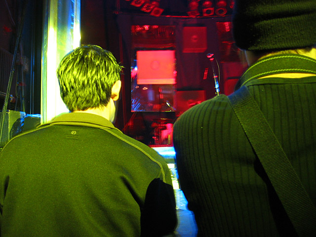 Two fellows at the Esthero concert.