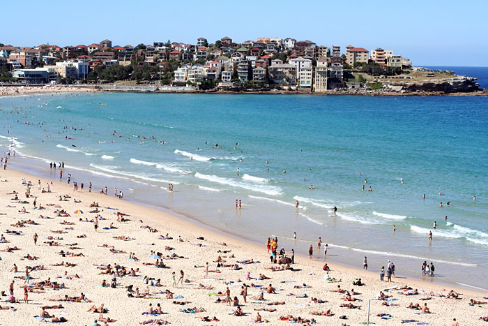 Bondi Beach in Sydney.