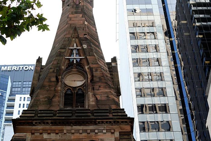 A church in downtown Sydney.