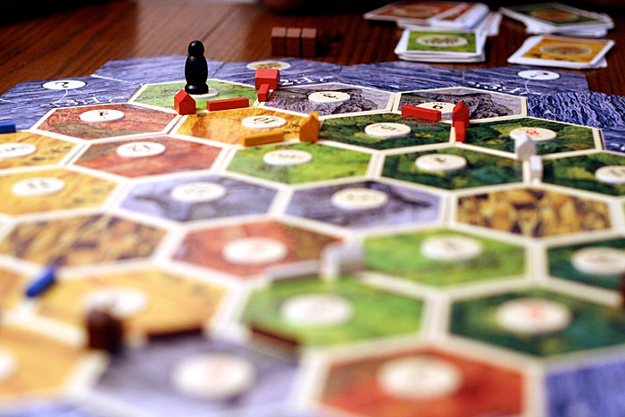 The Settlers of Catan board game.