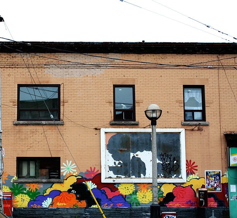 A mural at the corner of Bloor and Lansdowne.