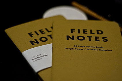 My field notes.