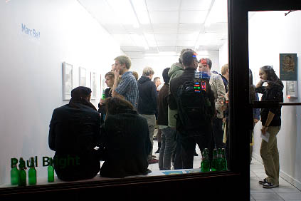 the opening night for the Paul Bright gallery