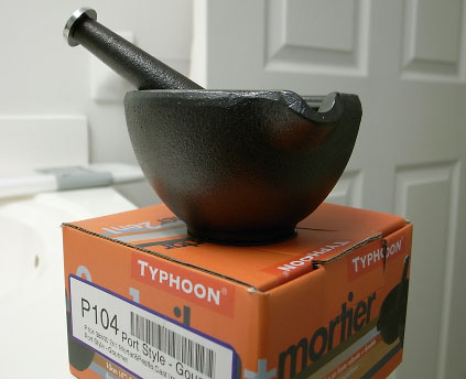 A typhoon mortar and pestle.