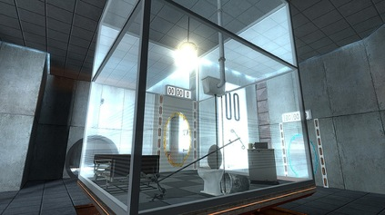 A screen shot from Portal.